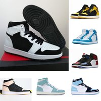 1s Basketball shoes Jumpman 1 hot Pine Green Black Bloodline Men Designer Sneakers Fearless Obsidian UNC Patent gold black toe top Trainers