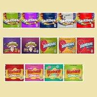 Starburst Skittles Warheads Airheads Xtremes Boş Çanta 400 mg 408mg Koku Geçirmez Ambalaj Fermuar Paketi DHL Ücretsiz