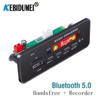 Car Mp3 decoder Board Music player Bluetooth Handsfree Wireless FM Module TF Card 3.5mm USB AUX Music WMA WAV MP3 Decording1