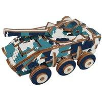 Zırhlı Araba 3D Ahşap Bulmaca El Sanatları Yapboz Oyuncaklar DIY Montaj Kiti Çocuk Öğrenme Eğitim Hediyeler Egzersiz Uygulama Yeteneği