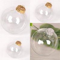 Decoração de Natal DIY gota Balls Árvore plástico transparente Pingentes Outdoor Wedding Ornamentos esfera oca Originalidade 7 98sq F2