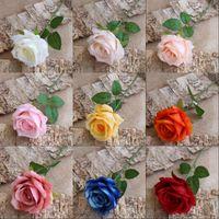 Tek Gül Yapay Çiçek Düğün Süsleme Buket Gerçek Dokunmatik Çiçek Ev Mobilya Parti Dekoru Çiçek 1 4QT G2