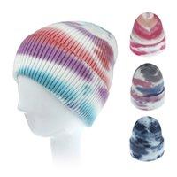 Ruoshui امرأة الشتاء ريترو التعادل صبغ كاب رياضة المرأة قبعة صوف إكسسوارات الشعر أغطية الرأس قبعة الحلي سكولي بونيه