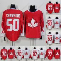 2016 월드컵 오브 하키 유니폼 50 Corey Crawford 63 Brad Marchand 70 Braden Holtby 77 Jeff Carter 87 Sidney Crosby Men 여성 청소년 유니폼