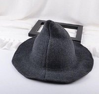 1 peça moderna halloween bruxa chapéu de lã mulheres senhora feita de moda ovelha lã halloween festa chapéu sqcxdy casas2007