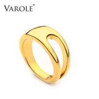 VAROLE Punk Hollow Ring Gold Color Minimalist Finger Rings For Women Fashion Jewelry Party Anillos Gifts