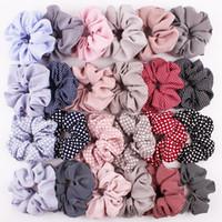 Scrunchies Headwear grandes praças Intestino Cabelo Ties Ropes Elastic bolinhas listra Hairbands Meninas Plover cabelo na moda Acessórios AHC2594