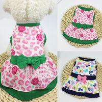 Butterfly Borboleta Floral Impresso Dog Vestido Grande Swing Skirt Macio Sem Mangas Inverno Inverno Quente Pet Dog Roupa Cachorrinho Cachorrinho Traje