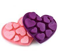 Силиконовые шоколадные формы формы сердца английские буквы писем торт шоколадная плесень силиконовые льдивые лоток жели формы мыло мыло выпечки плесень W112