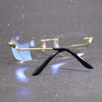 Marco de cristal de la huella dactilar para la nueva colección de gafas de diseñador único Lea computadora Mujeres de lujo Gafas Señoras