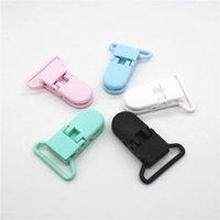Chenkai 50 adet Sıcak D Şekli 2.5 cm Kam Plastik Emzik Klipler DIY Bebek Askı 25mm Şerit için Kukla Süvari Zincir Tutucu Klipler