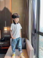 Summer Kids Boys Polo Shirt 2021 New Baby Cotton Short Sleeve T shirt Boys girls White Shirts tops