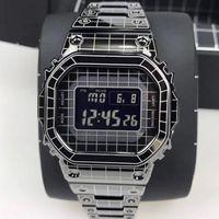 Orologio da uomo quadrato di vendita caldo LED GMW-B5000 Gleded Out Geight Orologio In Acciaio In Acciaio Impermeabile e antiurto