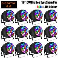 Titop 12 pezzi Big 19X15W occhi 4in1 RGBW LED Big Bee Eye LED Par fascio + luce della lavata grande occhio luce par DMX