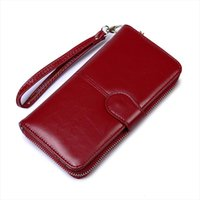Oil Wax Womens Money Bag Hasp Money Clips Purse Wallets Clip...