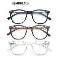 Modfans Hommes Lecture de lunettes Femmes Oversize Cadre en plastique rond Lecteurs Unisex Lunettes de vue presbyopiques Diopttre confortable à porter1