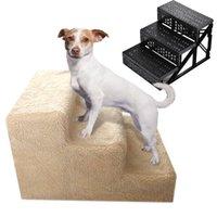 Accesorios de perreras Cat Soft Portable Cat Dog 3 Pasos Rampa Pequeña escalera PET STEP STAS CASAS
