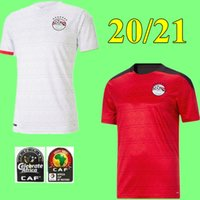 جديد 2020 2021 مصر كرة القدم جيرسي م. صلاح هوم ريد ابيض 20 21 21 Kahraba A. هجازي رمضان زي القمصان الفطرية