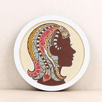 1 pièce murale ronde Cadre photo bricolage Tenture Porte-Picture Frame Solid Phtoto For Living Room Decor
