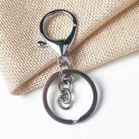 New Silver Gold Biger Lobster Застежка Tone брелки брелоки Круглый Сплит брелок ключа автомобиля Rings Blank Metal Keychains GGB2257