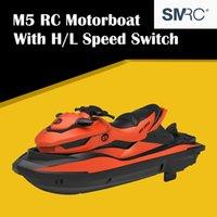 Bom venda SMRC M5 2.4G Elétrica RC Barco Duplo Motor RTR Mini Remoto Controle Remoto Barco Barco Automóvel Indoor Water Brinquedos 201204