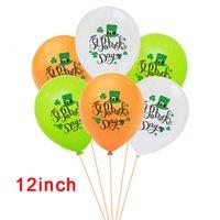 ST Patrick Day Décorations Vertes Clovers Bannières Ensemble Shamrock Lucky Irish Party Garlands Irish Festival Latex Ballons Ensembles EEF4925