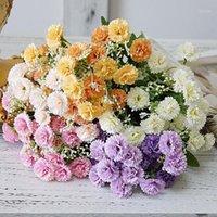 Dekorative Blumen Kränze Flieder Kleines Bündel Seide Künstliche Gefälschte Flores für Startseite Party Garten Dekoration Weihnachten Dekor Kranz1