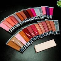 50pcs / lot all'ingrosso OEM liquido liquido etichetta privata cosmetici rossetto vegan 29 colori per la scelta labbra lucido fare y il nostro lipgloss