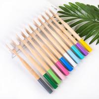 Spazzolino da denti in bambù in bambù in bambù Spazzolino da denti cilindrico