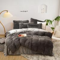Conjuntos de camas de peluche caliente de cuatro piezas King Queen Tamaño de lujo Edición de lujo Funda de almohada Funda edredón Edredón de camas Edredones Conjuntos de alta calidad