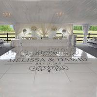 Plancha de baile de boda Vinyl Decal Nombre de encargo Fecha Pegatinas de pared Signos de boda Puerta de la ventana Personalizada mural extraíble DIYZW420 201106
