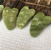 البوب xiuyan الحجر الطبيعي الأخضر اليشم غاينا غا غا شا الشيعة مجلس مدلك لإزالة العلاج اليشم الرولتر 2021 جديد