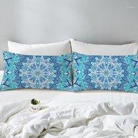 بوهيميا ماندالا سلسلة وسادات مطبوعة بوليستر وسادة غطاء الأزياء وسادة القضية لغرفة النوم استخدام 1