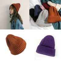 Ins style pure color woolen hats qiu Dong female Korean version crimped concave modeling pointed hat simple Hara Ju knit hat