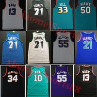 Charles 34 Barkley Jerseys Grant Steve 13 Nash Kevin 21 Garnett 33 Hill Ason 55 Williams Mike10 Bibby 50 Reeves College Basketball Jersey