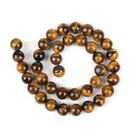 Дешевые 144 шт. / Лот 8 мм натуральные каменные шарики желтый тигр глаз круглая свободные шарики для создания ювелирных изделий DIY