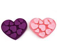 실리콘 초콜릿 금형 심장 모양 영어 편지 케이크 초콜릿 금형 실리콘 얼음 트레이 젤리 금형 비누 베이킹 금형