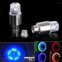 Bike Lights Sonda Shiny Bicycle Light 2pcs LED Pneumatici Pneumatici Cap Stelo Neon Accessori auto Auto di alta qualità A7111