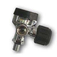 AC921 Acecare New 300BAR 4500PSI PCP Paintball Válvula de tanque para el cilindro de fibra de carbono SCBA con un gran manómetro Acecare