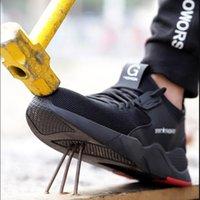 Frauen und Männer Stahl-Zehen-Arbeitssicherheit Sportschuhe Lässig Atmungsaktive Outdoor Sneakers Pannen-Proof-Stiefel Bequeme Schuhe LJ200917