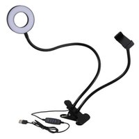 Flash Heads Selfie Ring Light With Flexible Mobile Phone Holder Lazy Bracket Desk Lamp Led For Youtube Live Stream Office So On