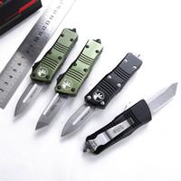 01wholesale CNC D2 Steel T6061 Handle A14 UTX85 UT121 BM3300 BM3500 Acampamento Faca Automática Faca de faca de faca EDC Ferramenta de caça Bolso Facas