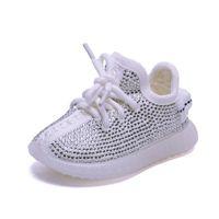 AOGT Spring / Otoño Baby Girl Boy Boy Shoes Zapatos de Rhinestone infantil Zapatillas de coco Cocón Soft Cómodas Zapatos Kid 201026