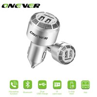 Onever voiture enregistrer les mains libres Bluetooth FM \ \ 124; MP3, FM 3.1a à double modulateur USB, TF support chargeur USB DC 12-24