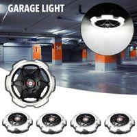 차고 라이트 라운드 5 헤드 조명 높은 베이 LED 조명 매우 높은 밝기 E26 / E27 블랙