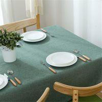 Nordic Masa Örtüsü Pamuk Keten Toz Geçirmez Masa Örtüsü Mutfak Yemek Masaüstü Dekorasyon Için