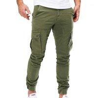 Pantaloni da uomo autunno autunno inverno casual pantaloni di pantaloni da carico slim fit moda combattimento con cerniera con cerniera anteriore esercito maschio pants1