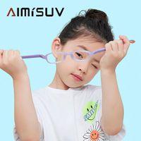 Lunettes de soleil Ordinateurs pour enfants Eyeglasses Garçon Garçon Blue Lumière Bleu Verres Enfants TR90 TR90 Flexible Cadre Silicone UV400