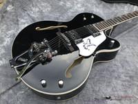Porcellana China Shop Guitar Electric Guitar Hollow Jazz Guitar Big Jazz Vibrato System.Lack Colora Due stili Tuner