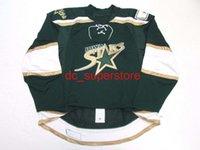 Estrelas de Iowa personalizadas costuradas AHL Green Hockey Jerse Adicionar qualquer nome Número Mens Kids Jersey XS-5XL